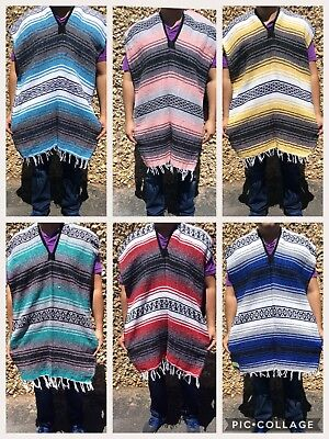 MEXICAN FALSA PONCHO , SERAPE , 5 DE MAYO COSTUME , ONE SIZE FITS ALL , NEW](Mayonnaise Costume)