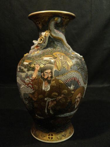 Meiji Period Satsuma Vase Ebay
