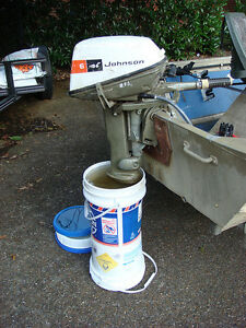 1975ish Johnson 6hp outboard motor