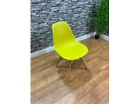 Contract Quality Contemporary Mustard Plastic Cafe Bistro Bar Chairs