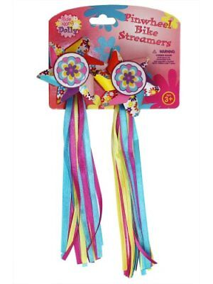 Bike Handlebar Streamers - Kid's Bicycle Pinwheel Streamers - Easy Attachment to