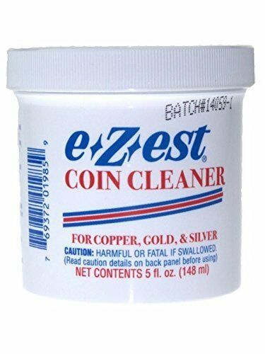 5oz e-Z-est Coin Cleaner for Gold Silver and Copper Coins