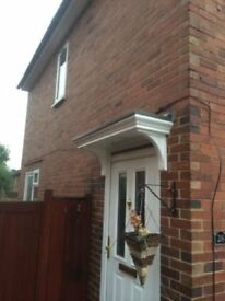 SMALL GRP FLAT TOP CANOPY COMPLETE WITH CURVED GRP BRACKETS AND FREE DELIVERY