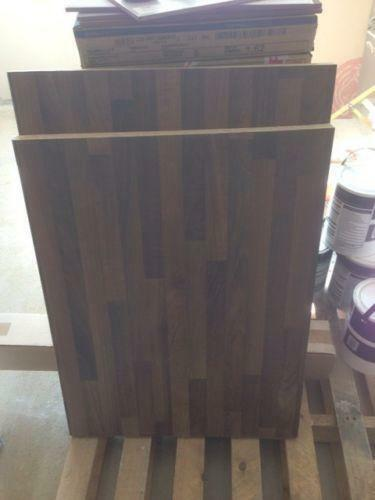 Walnut worktop kitchen units sets ebay for Kitchen unit set