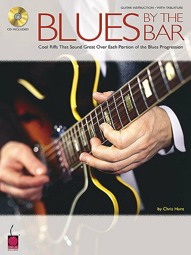 Chris Hunt Blues By The Bar Learn to Play Guitar Riffs Jazz Music Book & CD