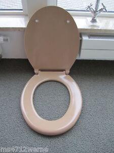 HM WC Sitz Pagette bahamabeige beige mit Edelstahlbefestigung f. Wand & Stand WC