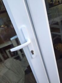 BRAND NEW WHITE UPVC FRENCH DOORS 1200MMX2100MM SUPPLY ONLY
