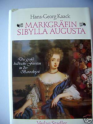 Markgräfin Sibylla Augusta 1983 badische Fürstin Barock