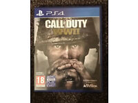 PS4 Call of WW2 in mint condition like new