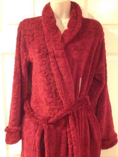 Womens Plush Robe Ebay