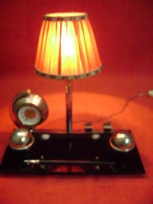 Set Desk Lamp Watch Nib 60's Vintage Modern Antiques