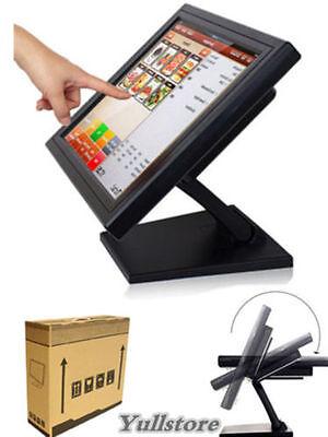 """15"""" LED USB TouchScreen Monitore Registrierkasse mit Multi-position POS Ständer"""