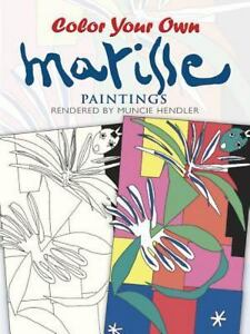 Image Is Loading Color Your Own Matisse Paintings Dover Art Coloring