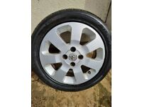 Set of 4 Vauxhall alloy wheels off a Corsa with tyres in West London area