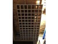 91 Bottles Wine Rack(13x7) Tier Solid Wood Stackable Holds Storage Display Shelf