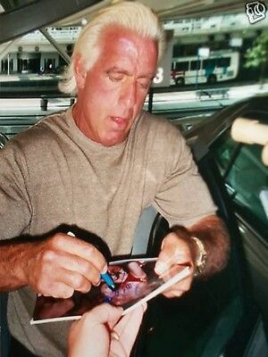 Nature Boy Ric Flair SIGNED Licensed 8X10 Photo WWE 1992 Royal Rumble Winner