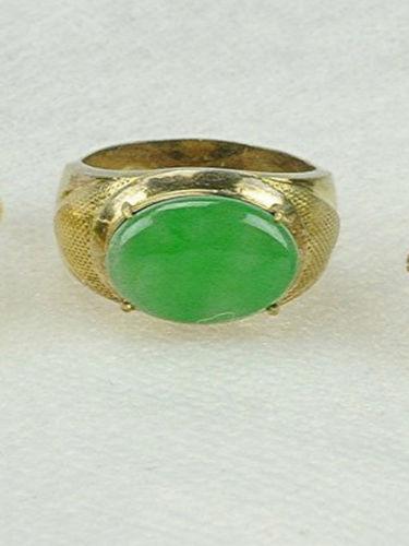 Antique Gold Jade Ring Ebay