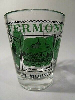 VERMONT SCENERY GREEN CLASSIC DESIGN SHOT GLASS (Greens Design Collectible Shot Glass)