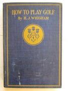 Antique Golf Book