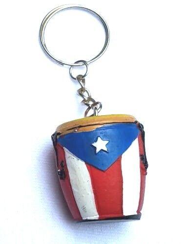 PUERTO RICO RICAN Conga KEY CHAIN RING CARS TRUCKS SOUVENIRS Boricua Holder