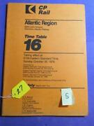 Canadian Pacific Timetable