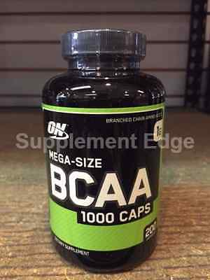 "Optimum Nutrition BCAA 1000mg (200 Caps) ""New/Factory Sealed and Free Shipping"""