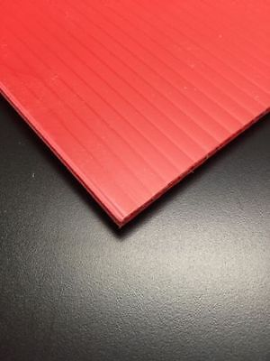 65 Pcs 4mm Red 24 In X 18 In Corrugated Plastic Coroplast Sheets Sign