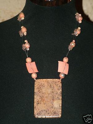 Necklace Fashion Wood Resin Perlinehippy Boho Vintage Girl Ethnic FIL.5