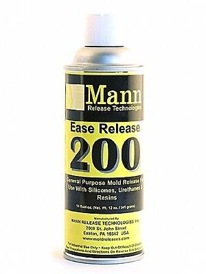 Mann Ease Release 200 - Mold Release for Silicone to Silicone,Urethane, Epoxy