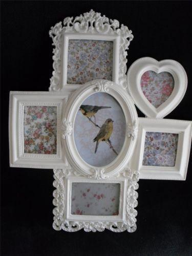 large white shabby chic frame ebay. Black Bedroom Furniture Sets. Home Design Ideas