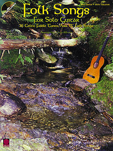 Folk Songs For Solo Guitar Learn to Play Irish Celtic TAB Music Book & CD