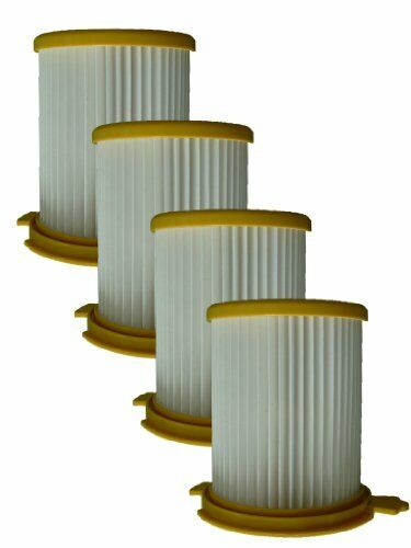 (4) Royal Dirt Devil F12 Pleated HEPA Canister Vision w/activated Charcoal, V...