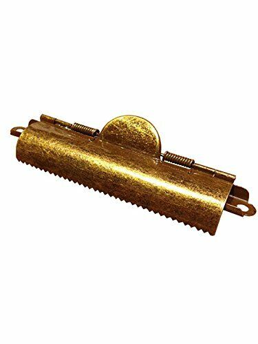 Domed Antique Brass Clipboard Clips 10 Pack