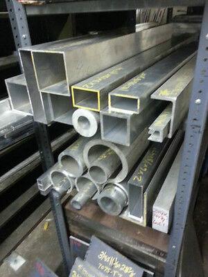 4 X 4 X 18 X 72 Surplus Aluminum Square Tube Drop