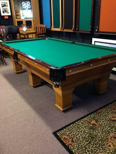 Antique Pool Table EBay - 4 x 8 brunswick pool table