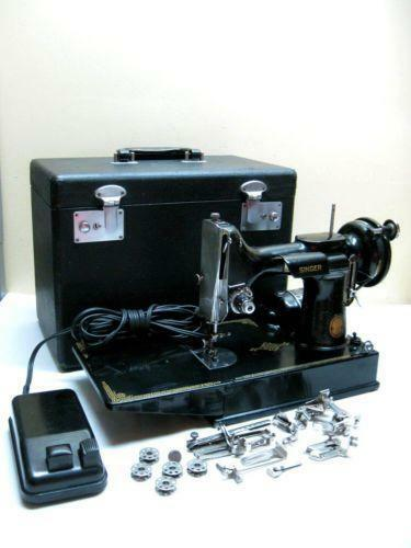 Singer Featherweight Case Sewing 40Now EBay Cool 1947 Singer Featherweight Sewing Machine