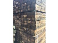 RECLAIMED SAWN RAILWAY SLEEPERS 2.4m x 200 x 110mm