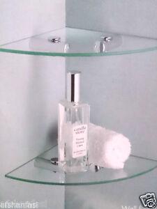 caricamento dellimmagine in corso 2 mensole in vetro trasparente ripiano angolare per