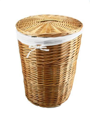Wicker laundry basket ebay - Rattan laundry basket with lid ...
