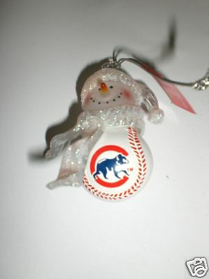 1~ Chicago Cubs Mini Baseball Christmas Ornament - Baseball Christmas