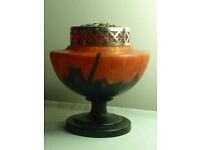 Bohemian Art Deco spatter glass vase a splendid example of true art deco