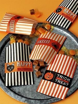 Martha Stewart Crafts - Halloween Collection - Wax Treat Bags - Carnival  - Martha Stewart Halloween Treat Bags