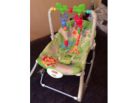 Fisher-price rainforest infant to todler rocker