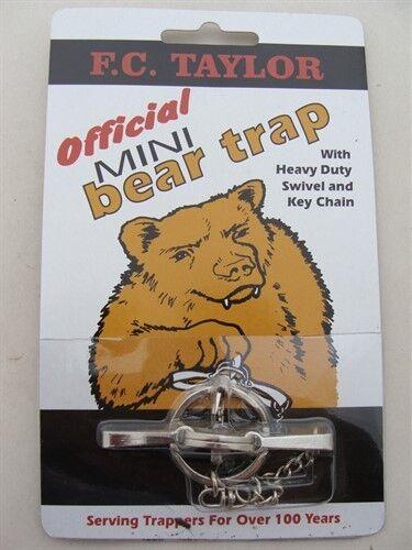 F.C. Taylor Mini Bear Trap Key Chain Novelty