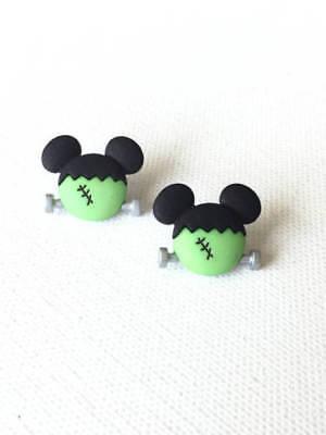 Mickey Frankenstein Stud Earrings, Halloween, Jewelry, Spooky, Disney, Kawaii](Female Frankenstein Halloween)