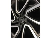 "22"" INCH LAND ROVER RANGE DISCOVERY 5 ALLOY WHEELS DIAMOND CUT BLACK 4 GENUINE '5025' & TYRES ALLOYS"