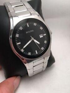 Bulova Diamond Allandele Stainless Steel Watch