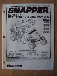 Snapper Riding Mower Ebay