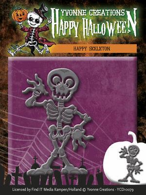 Stanz-/Prägeschablone lustiges Halloween-Skelett Yvonne Creations YCD10079
