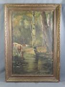 Antique Victorian Oil Painting